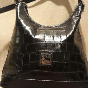 Dooney and Bourke black leather bag